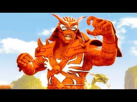 Mortal Kombat Komplete Edition - Spider-Man Shao Kahn & The Flash Tag Ladder Gameplay Playthrough thumbnail