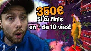 VALOUZZ NOUS FAIT DÉCOUVRIR SON DEATHRUN AVEC 350€ DE CASHPRIZE !! Fortnite Créative mode