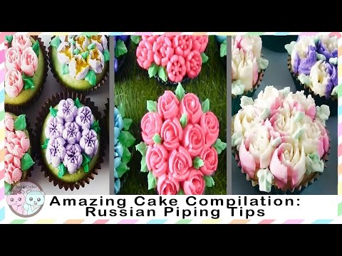 AMAZING CAKE COMPILATION, RUSSIAN PIPING TIPS COMPILATION - SUGARCODER