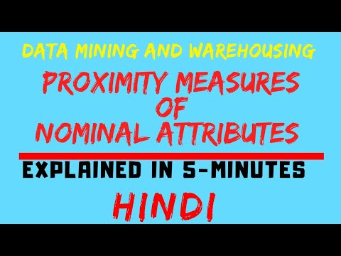 Proximity Measures Of Nominal Attributes Explained In Hindi