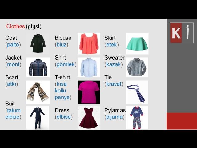 CLOTHES AND FOOTWEAR (Giysi ve Ayakkab? çe?itleri), Lesson (Ders) 7