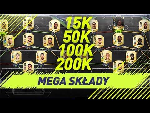 MEGA SKŁADY za 15k / 50k / 100k / 200k | FIFA 18 SQUAD(s) BUILDER