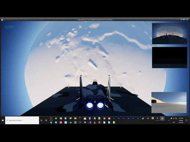 Jet Exhaust Particle Test in Unreal Engine