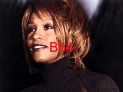 Whitney Houston's Studio Vocal Range 1990-1999: C3-C6