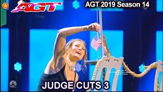 Cirque Du Sewer (Melissa Arleth &pet) rat act PATRIOTIC & FUN | America's Got Talent 2019 Judge Cuts