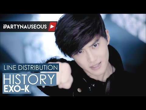 EXO-K - History // Line Distribution
