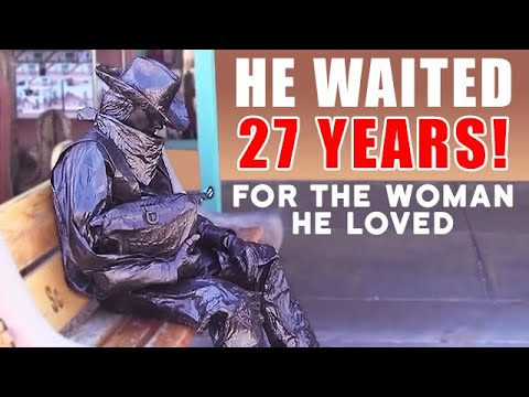 Bronze Cowboy Living Statue – The Love Story