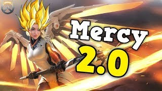 Overwatch - new ptr gameplay mercy is a super saiyan? - valkyrie ultimate dva and reinhardt changes