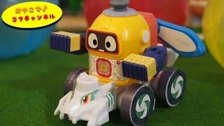 ヘボット!のガチャガチャ、ガシャプラシリーズvol1にはヘボットとスカイラビット&DJサルッキー・かっとびタイガーがラインナップにあり、合体...