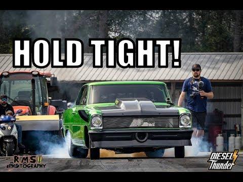 HALF TRACK COME BACK!!! WORLDS FASTEST DIESEL DOOR CAR