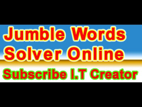 jumble word solver