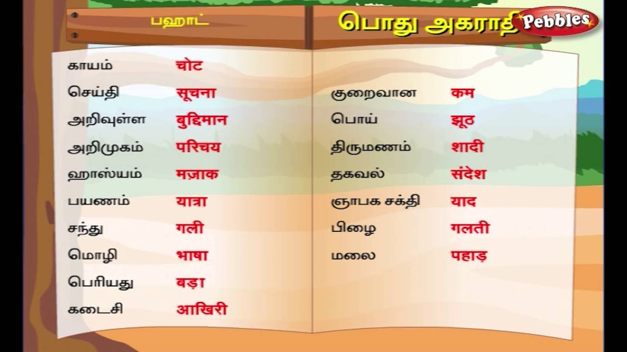 Hindi Tutorial In Tamil Pdf