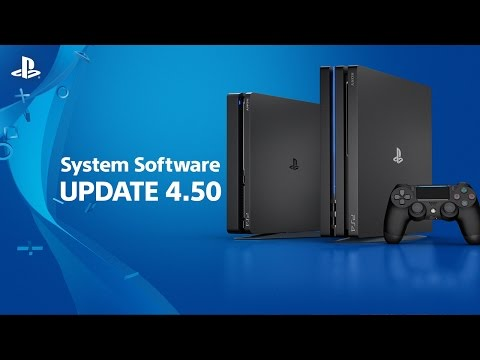 4.50 System Software Update | PS4