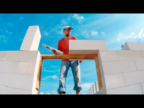 ⚫ HOW to build a CHEAP House? RAPID masonry walls of aerated CONCRETE blocks. part 3