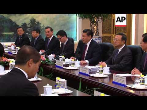 Visiting Thai PM meets Chinese president