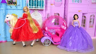 Princess Snow white Rapunzel Castle Bedroom Morning Dress up Gaun boneka Putri Vestido de Princesa thumbnail