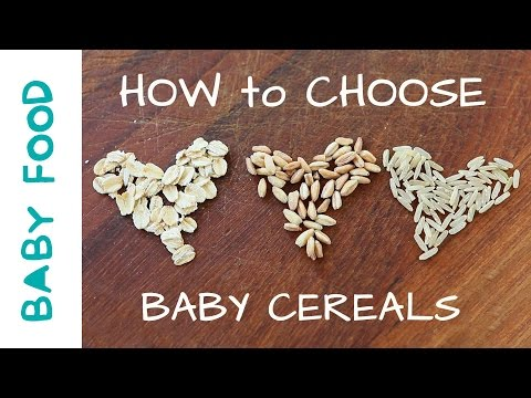 How to choose Baby Cereals - baby food