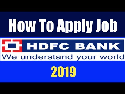 How To Apply Job Online In HDFC Bank | HDFC Bank Recruitment 2019