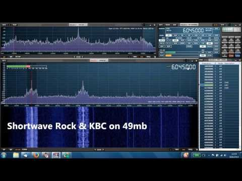 Shortwave Rock & KBC on 49mb, received by Perseus SDR receiver and Studio1 software