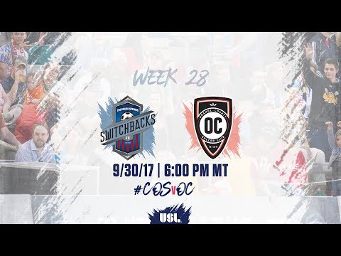 USL LIVE - Colorado Springs Switchbacks FC vs Orange County SC 9/30/17
