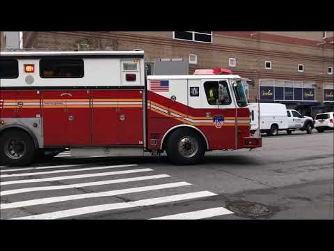 """COMPILATION OF FDNY RESCUE 1 """"ONLY"""" RESPONDING IN VARIOUS NEIGHBORHOODS OF MANHATTAN, NEW YORK.  03"""