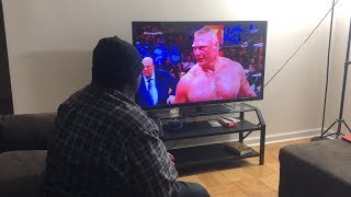Roman Reigns VS Brock Lesnar WWE Universal Title SummerSlam 2018 REACTION