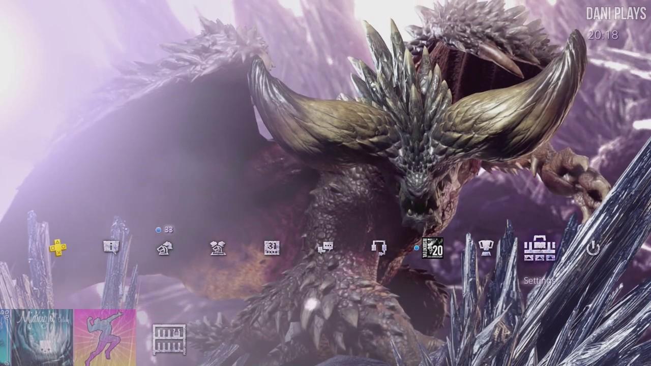 Monster Hunter World Nergigante Ps4 Dynamic Theme Youtube