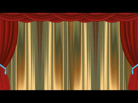 Classic Gold Curtain Animation-Premium Video