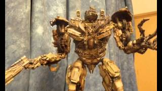 transformers DOTM optimus prime vs sentinel prime vs megatron stop motion VO