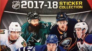 Panini NHL 2017-18 Sticker Collection Box Break and Album Review