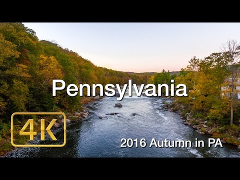 Autumn in Pennsylvania 4K UHD Phantom 4 Aerial footage of Fall Foliage 2016