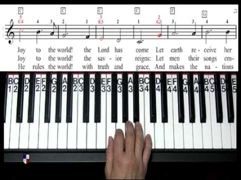 How To Play Joy To The World On Piano Youtube