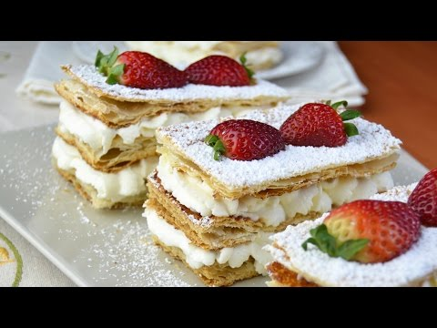 Strawberry & Whipped Cream Mille-Feuille - How to Make Mille-Feuille with Whipped Cream