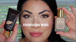 TARTE Amazonian clay VS Estee Lauder Double Wear!|Foundation Wars!
