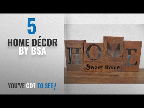 "Top 10 Home Décor By Bsa [ Winter 2018 ]: Vintage Style 9"" Rusty Metal Block Letters ""HOME SWEET"