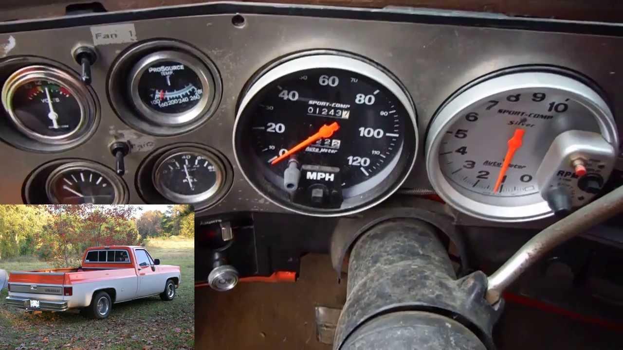 1979 Mustang Wiring Diagram 1976 C10 Chevy Long Bed Truck 462 Big Block Start Up
