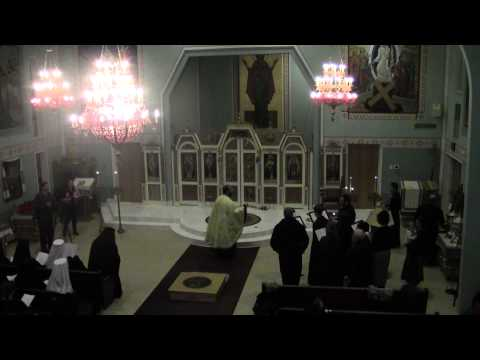 St Andrew UOC Daily Vigil before Metropolitan Antony's Enthronement