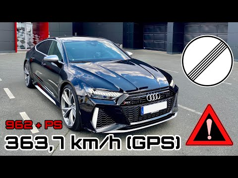 363,7 km/h (226 mph) | HGP Audi RS7 C8 mit 962 + PS | 🚀🚀🚀 World's fastest Audi RS7?
