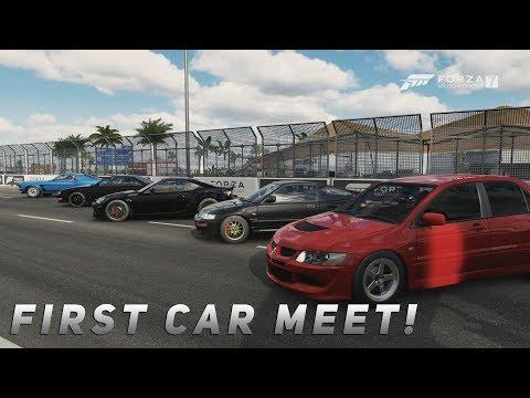 Forza 7 - Livestream | 500HP Street Cars - First Meet Up! Racing In Dubai! w/ S14, G8, BRZ, & More