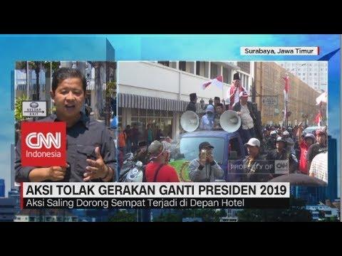 Aksi Tolak Gerakan Ganti Presiden 2019 di Surabaya