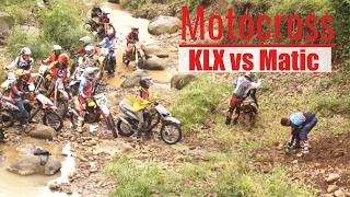 MotoCross KLX Vs Matic River And Hill Climbers Extreme Sport - Tori Airin