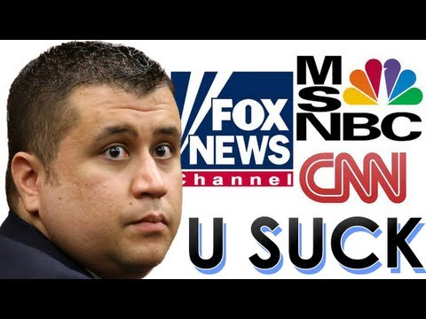 News Media Coverage of Trayvon Martin / George Zimmerman Not Guilty Trial