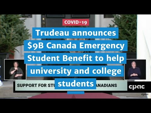 Trudeau announces $9B Canada Emergency Student Benefit to help university and college students