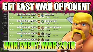 How to get easy war opponents in Clash of clans 2018trick!