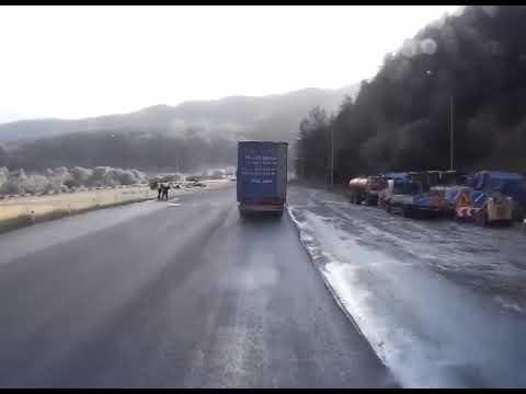 Спасительное ДТП с бензовозом на трассе М-5