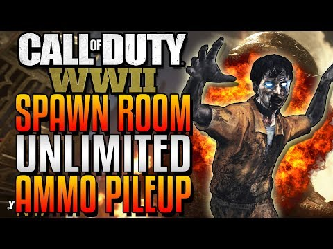 WWII ZOMBIE GLITCHES: BRAND NEW SPAWN ROOM UNLIMITED MACHINE PISTOL AMMO PILEUP - THE FINAL REICH
