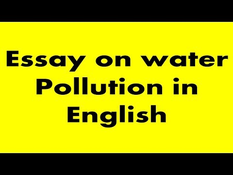 a short paragraph on water pollution