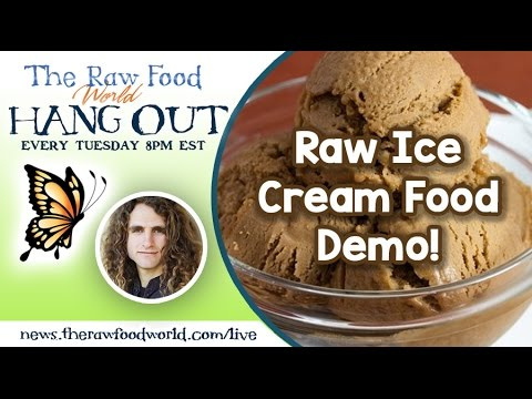 Raw Ice Cream Food Demo!