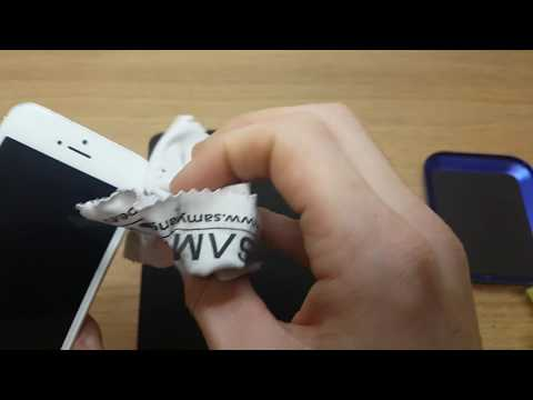 How to clean iphone 5s white lcd screen for better work