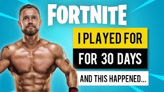 Fitness YouTuber plays Fortnite for 30 days | This is what happened
